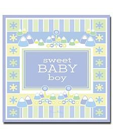 "Grace Riley 'Sweet Baby Boy' Canvas Art - 14"" x 14"""