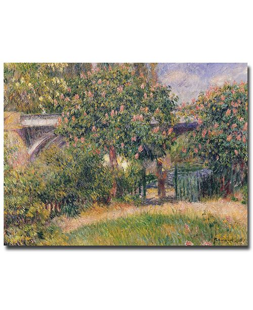"Trademark Global Pierre Auguste Renoir 'Railway Bridge at Chatou, 1881' Canvas Art - 24"" x 18"""