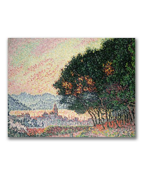 "Trademark Global Paul Signac 'Forest Near St. Tropez' Canvas Art - 24"" x 18"""