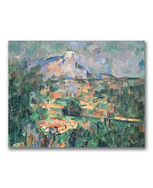 "Trademark Global Paul Cezanne 'Montagne Sainte-Victoire' Canvas Art - 32"" x 26"""