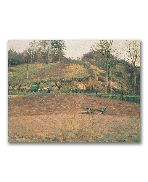 "Trademark Global Camille Pissarro 'Ploughland' Canvas Art - 47"" x 30"""