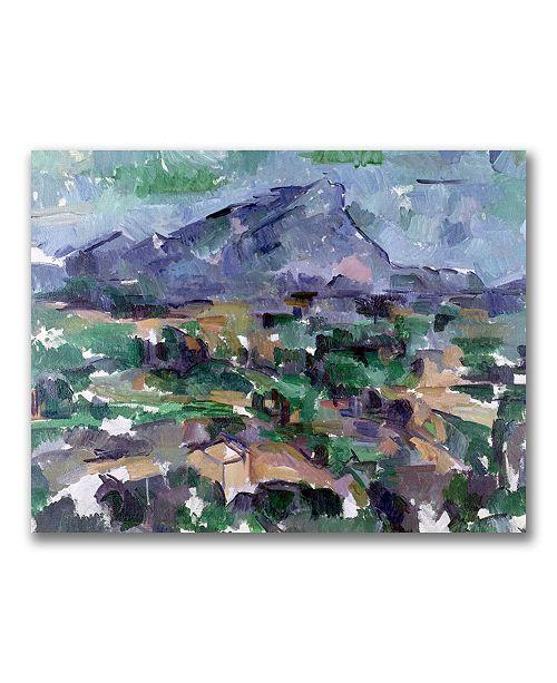 "Trademark Global Paul Cezanne 'Montagne Saint-Victoire' Canvas Art - 47"" x 30"""