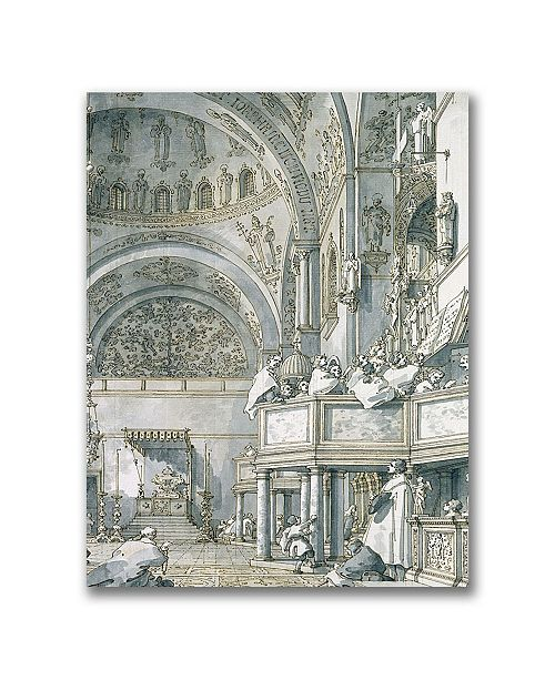 """Trademark Global Canaletto 'The Choir Singing at St. Mark's' Canvas Art - 47"""" x 35"""""""