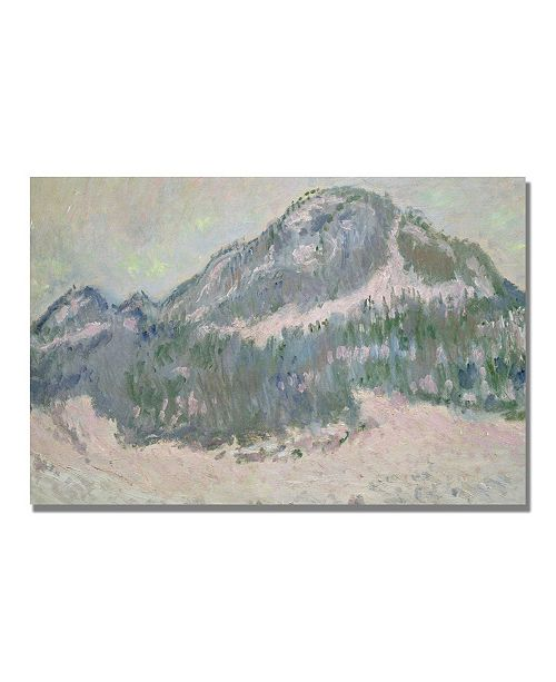 "Trademark Global Claude Monet 'Mount Kolsaas, Norway' Canvas Art - 47"" x 30"""