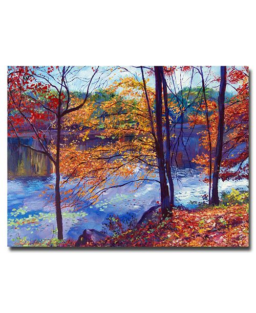 "Trademark Global David Lloyd Glover 'Falling Leaves' Canvas Art - 32"" x 24"""