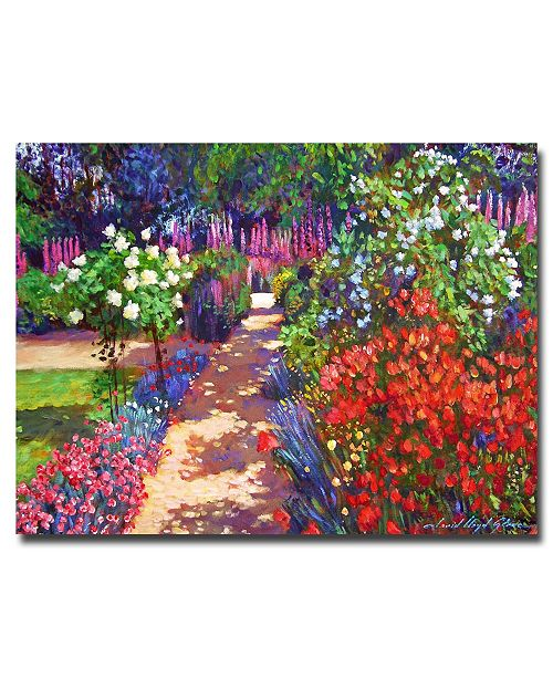 "Trademark Global David Lloyd Glover 'Romantic Garden Walk' Canvas Art - 24"" x 18"""
