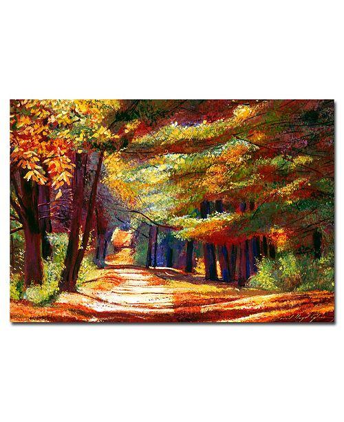 "Trademark Global David Lloyd Glover 'September Song' Canvas Art - 24"" x 16"""