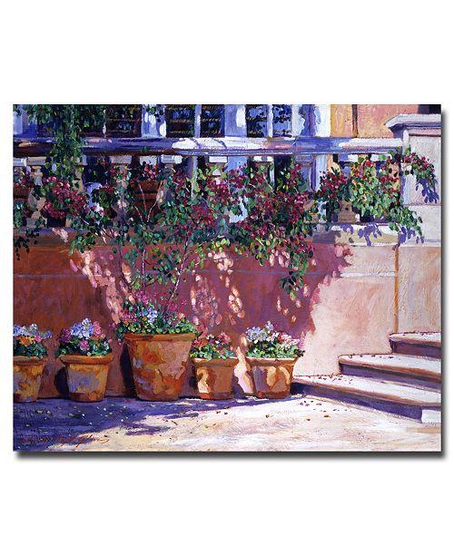 "Trademark Global David Lloyd Glover 'Tuscan Plaza' Canvas Art - 24"" x 18"""