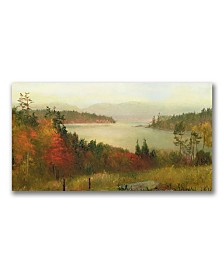 "Homer Martin 'Raquette Lake 1869' Canvas Art - 47"" x 24"""