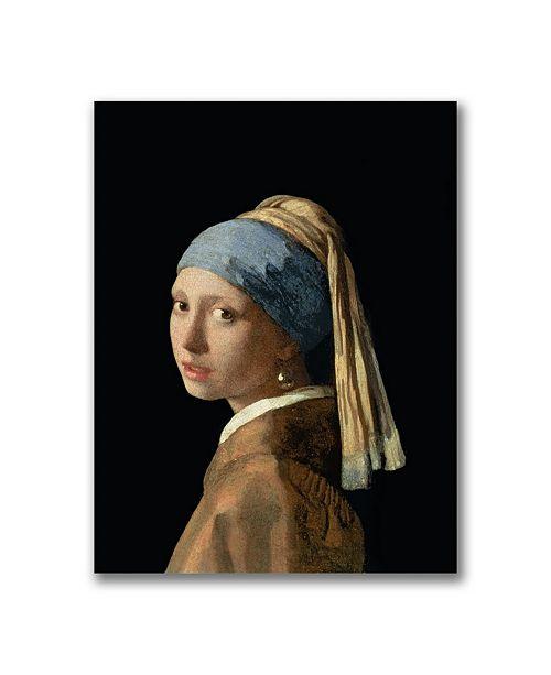"Trademark Global Jan Vermeer 'Girl with a Pearl Earring' Canvas Art - 32"" x 24"""