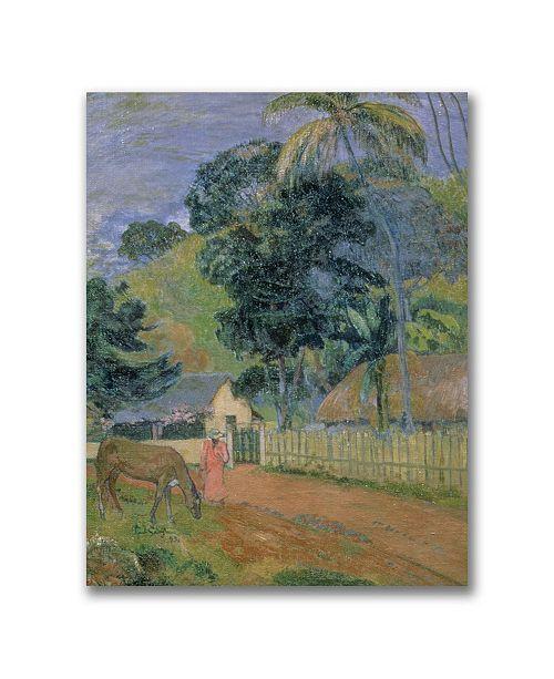 "Trademark Global Paul Gauguin 'Landscape 1889' Canvas Art - 24"" x 18"""