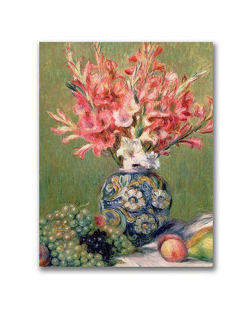 "Trademark Global Pierre Auguste Renoir 'Still life of Fruit and Flowers' Canvas Art - 47"" x 35"""