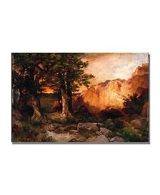 "Thomas Moran 'Western Sunset' Canvas Art - 47"" x 30"""