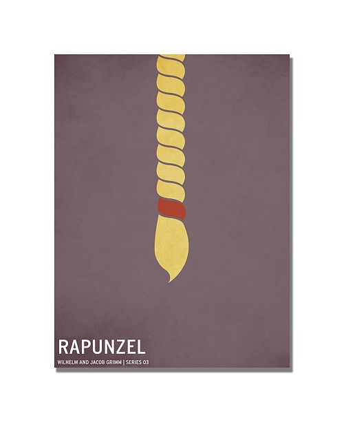 "Trademark Global Christian Jackson 'Rapunzel' Canvas Art - 24"" x 18"""