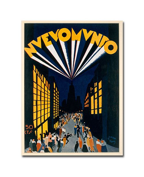 "Trademark Global Ochoa 'Nuovo Mondo Radio City 1928' Canvas Art - 47"" x 35"""