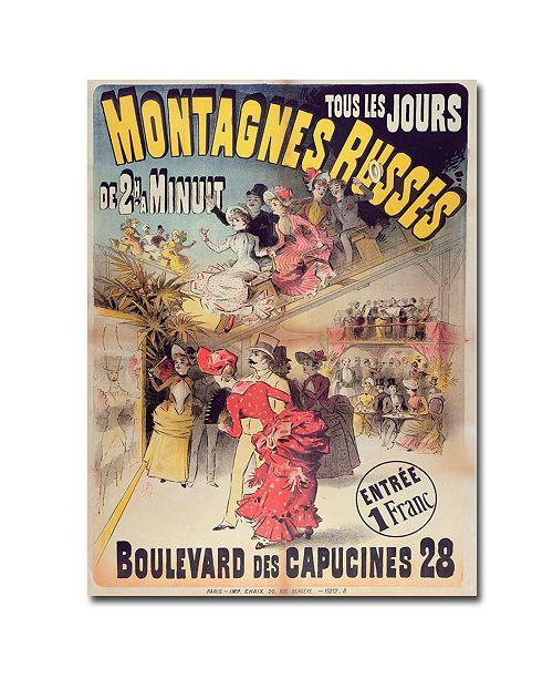 "Trademark Global Montagnes Russes 1888' Canvas Art - 47"" x 35"""