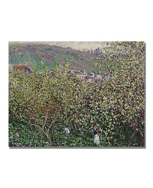 "Trademark Global Claude Monet 'Fruit Pickers' Canvas Art - 32"" x 24"""
