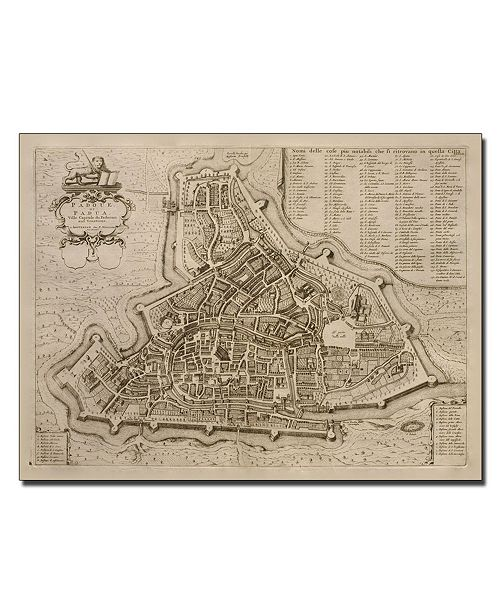 "Trademark Global Pierre Mortier 'Map of Padua 1704' Canvas Art - 14"" x 19"""