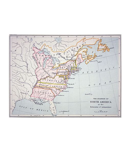 "Trademark Global 'N. America Declaration of Independence' Canvas Art - 24"" x 18"""