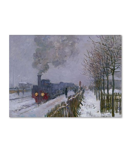 "Trademark Global Claude Monet 'Train In the Snow' Canvas Art - 47"" x 35"""