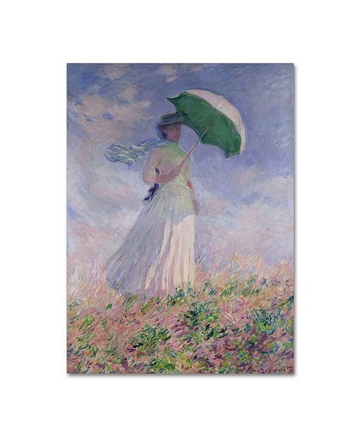 "Trademark Global Claude Monet 'Woman With a Parasol' Canvas Art - 14"" x 19"""