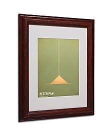 """Christian Jackson 'Peter Pan' Matted Framed Art - 14"""" x 11"""""""