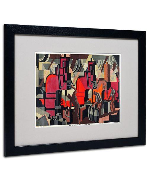"""Trademark Global Clive Gardiner 'Motor Manufacturing 1928' Matted Framed Art - 20"""" x 16"""""""