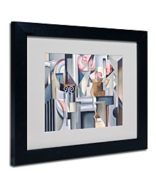 """Catherine Abel 'Still Life With Brown Jug' Matted Framed Art - 14"""" x 11"""""""