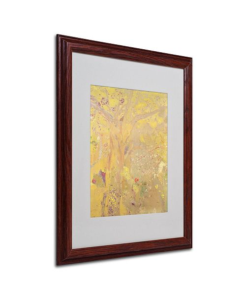 "Trademark Global Odilon Redon 'Yellow Tree 1900' Matted Framed Art - 20"" x 16"""