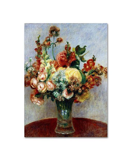 """Trademark Global Pierre Auguste Renoir 'Flowers In a Vase 1898' Canvas Art - 32"""" x 24"""""""