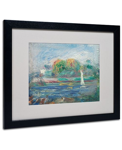 "Trademark Global Pierre Auguste Renoir 'The Blue River 1890-1900' Matted Framed Art - 20"" x 16"""