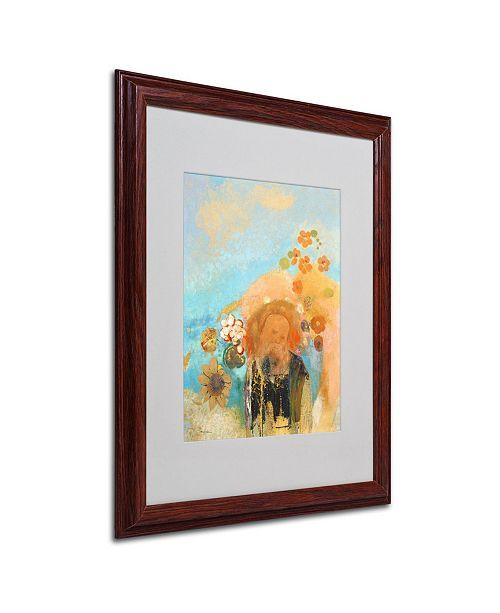 """Trademark Global Odilon Redon 'Evocation of Roussel 1912' Matted Framed Art - 20"""" x 16"""""""