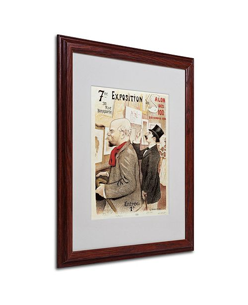 "Trademark Global 'Poster of Paul Verlaine and Jean Moreas' Matted Framed Art - 20"" x 16"""