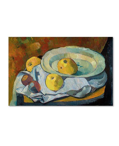 "Trademark Global Paul Serusier 'Plate of Apples 1891' Canvas Art - 19"" x 14"""