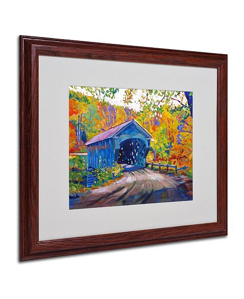 "Trademark Global David Lloyd Glover 'Fall Comes to Downer' Matted Framed Art - 20"" x 16"""