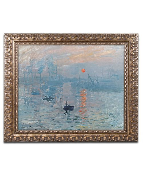 "Trademark Global Claude Monet 'Impression Sunrise' Ornate Framed Art - 20"" x 16"""
