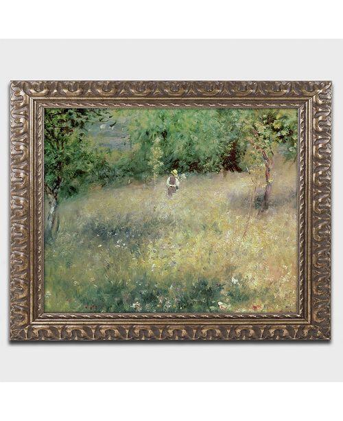 "Trademark Global Pierre Auguste Renoir 'Spring at Catou 1872-5' Ornate Framed Art - 14"" x 11"""