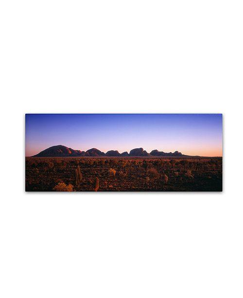 "Trademark Global David Evans 'Kata Tjuta Sunrise' Canvas Art - 47"" x 16"""