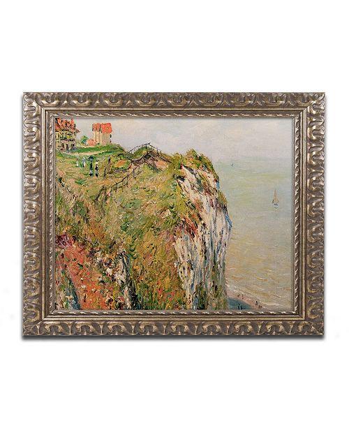 """Trademark Global Monet 'Cliff at Dieppe 1882' Ornate Framed Art - 16"""" x 20"""""""
