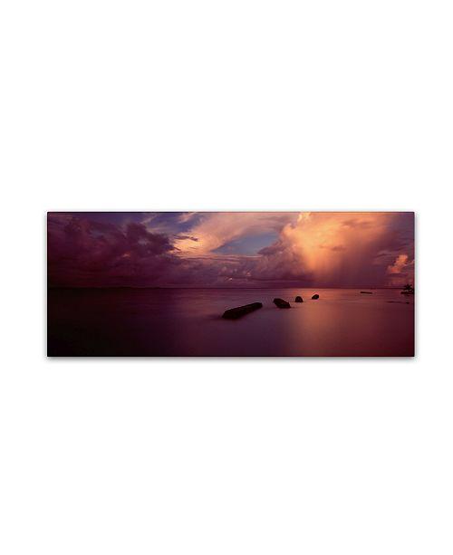 "Trademark Global David Evans 'Afterglow 2-Maldives' Canvas Art - 8"" x 24"""
