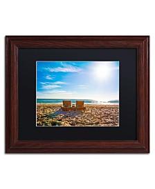 "Preston 'Florida Beach Chair' Matted Framed Art - 11"" x 14"""
