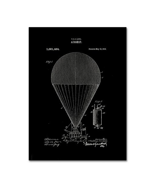 """Trademark Global Claire Doherty 'Airship Patent 1913 Black' Canvas Art - 24"""" x 32"""""""