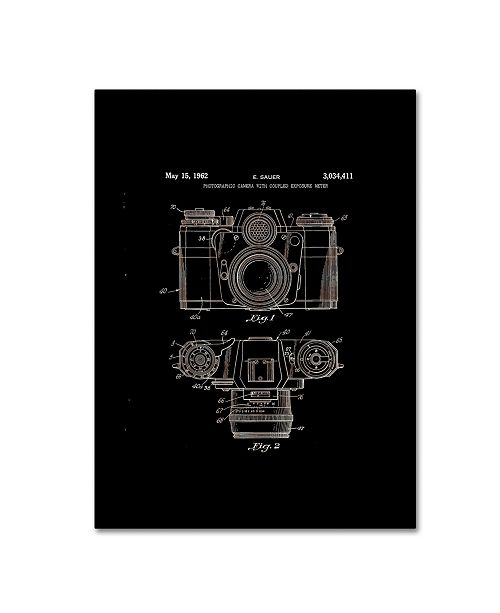 """Trademark Global Claire Doherty 'Photographic Camera Patent 1962 Black' Canvas Art - 24"""" x 32"""""""