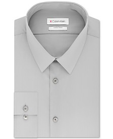 Calvin Klein Men's Extra-Slim Fit 360º Contour Stretch Wrinkle-Free Solid Dress Shirt