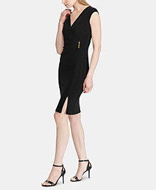 Pinned-Waist Sleeveless Jersey Dress