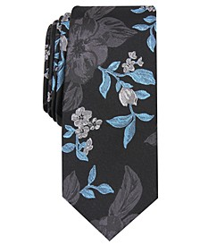 Men's Carter Skinny Floral Tie, Created for Macy's