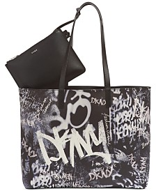 DKNY Brayden Graffiti Logo Tote, Created for Macy's