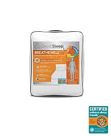Great Sleep Breathewell Certified Asthma & Allergy Friendly Twin Mattress Pad