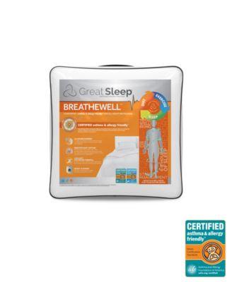 Breathewell Certified Asthma & Allergy Friendly Twin Comforter