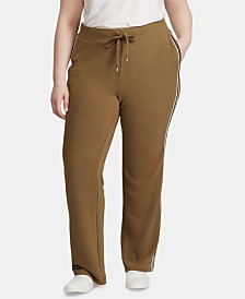 Lauren Ralph Lauren Plus Size Side-Stripe Sweatpants